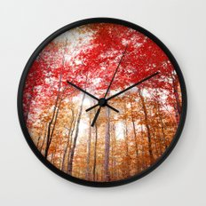 Red and Gold Wall Clock