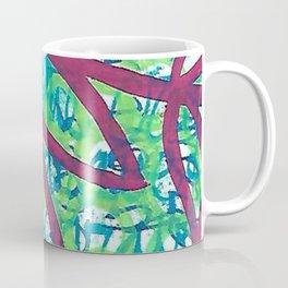 Red flower grafitti Coffee Mug