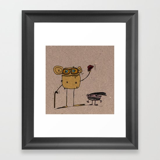 - thinking about family - Framed Art Print