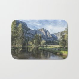 Yosemite Falls from Cook's Meadow Bath Mat