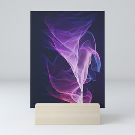 Out of the Blue - Pink, Blue and Ultra Violet Mini Art Print