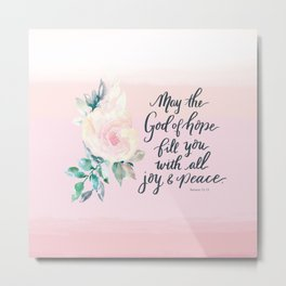 Joy and Peace Tote Metal Print