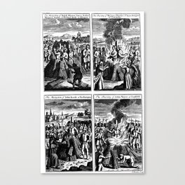 Group Martyrdom by Burning at the Stake. Canvas Print
