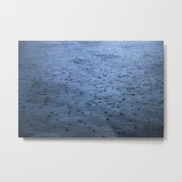 Estuary Rain Metal Print