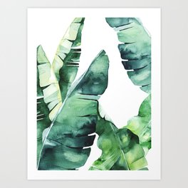 Tropical Banana Leaves Art Print