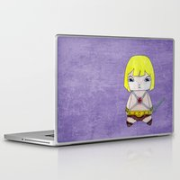 skeletor Laptop & iPad Skins featuring A Boy - He-Man by Christophe Chiozzi