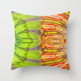 Nuclear Cell Spindle Pattern Throw Pillow
