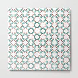 Tiles Vintage in turquoise, Blue, Yellow and Orange  Metal Print