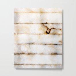 Weathered Alabaster Metal Print