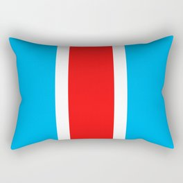 TEAM COLORS 10...RED , WHITE LIGHT BLUE Rectangular Pillow