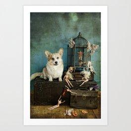 The TJ Hefner Mansion Art Print