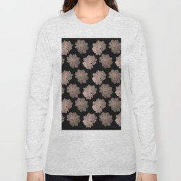 Autumn Leaves Pattern #7 #RoseGold #Black #foliage #decor #art #society6 Long Sleeve T-shirt