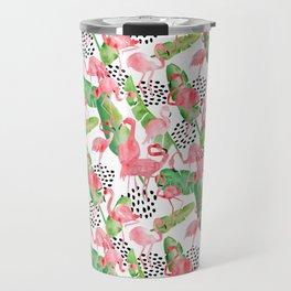 Flamingo Paradise Travel Mug