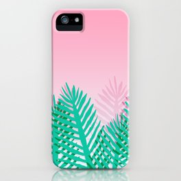 So Fine - palm springs desert plants indoor tropical oasis nature neon memphis throwback 1980s style iPhone Case