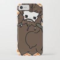 nori iPhone & iPod Cases featuring Dwarpacas(Nori) by Lady Cibia