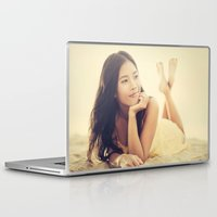 asian Laptop & iPad Skins featuring Asian Beauty by visualspectrum