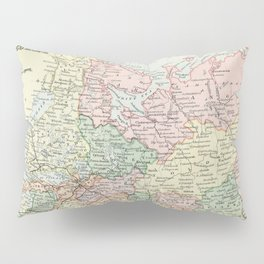 Russia in Europe Vintage Encyclopedia Map Pillow Sham