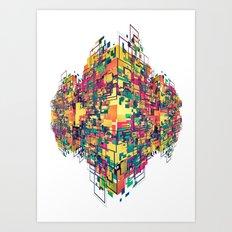 Digital Slums Art Print