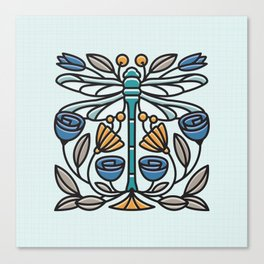 Dragonfly tile Canvas Print
