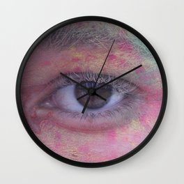 Powder Paint Guy Portrait Wall Clock