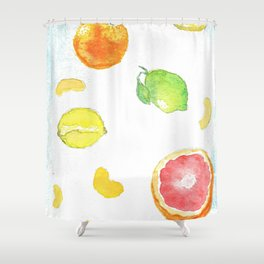 Citrus Pattern Shower Curtain