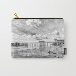 Penarth Pier Morning Light 2 Monochrome Carry-All Pouch