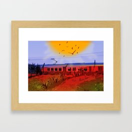 The Train Passed By Framed Art Print