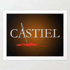 Castiel Art Print
