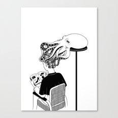 Octopus Salon Canvas Print