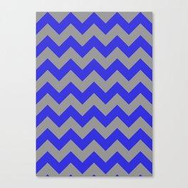 Chevron Navy Canvas Print