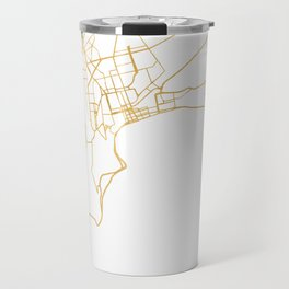 BAKU AZERBAIJAN CITY STREET MAP ART Travel Mug
