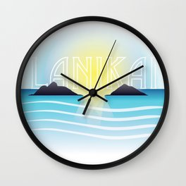 Lanikai Sunset Wall Clock