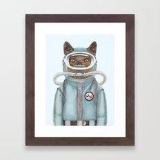 Scuba Cat Framed Art Print