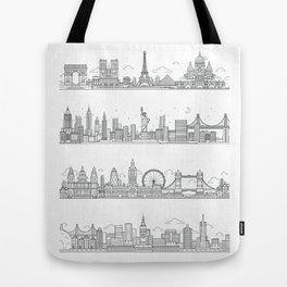 Skylines Tote Bag