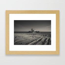 Beach Chapel (B&W) Framed Art Print