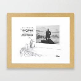 Un manager Framed Art Print