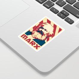Karl Marx Retro Propaganda Sticker