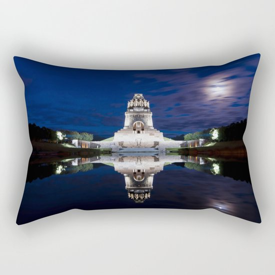Monument of Battles of Nations- Germany - blue hour Rectangular Pillow