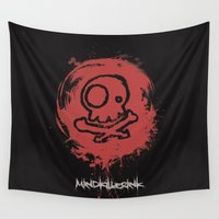 seal Wall Tapestries featuring MKI seal by MindkillerINK