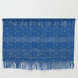 Decorative Bright Blue Pattern Wall Hanging