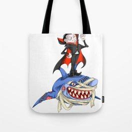 Halloween Vampire Shark Tote Bag