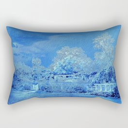 Wedgewood Blue English Garden Rectangular Pillow