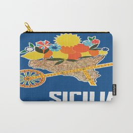 Sicilia - Sicily Italy Vintage Travel Carry-All Pouch