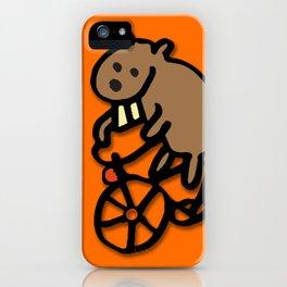 Beaver Rides a Bike! iPhone Case