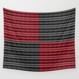 Presence of Anger in Red, Black, and Grey Wall Tapestry