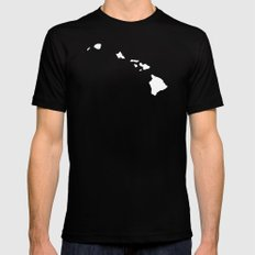 HAWAII Mens Fitted Tee LARGE Black