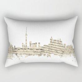 Toronto Canada Skyline Sheet Music Cityscape Rectangular Pillow