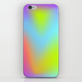 Rainbow gradient foil effect iPhone Skin