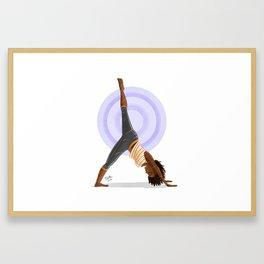 Three-Legged Downward Dog Pose Framed Art Print
