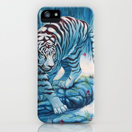 Tiger by the Waterfall iPhone Case